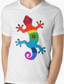 Rainbow salamander Mens V-Neck T-Shirt