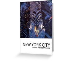 New York City - Midtown Manhattan with Chrysler Building Poster Greeting Card