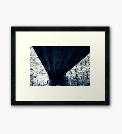 Under the Condemned Bridge Framed Print