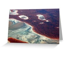 fluid landform Greeting Card