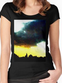Yellow Sunset Women's Fitted Scoop T-Shirt
