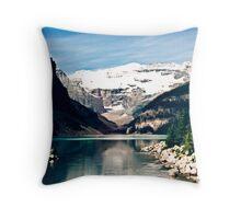 Lake Louise and Victoria Glacier Throw Pillow