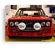 Mean Fiat 131 Abarth Rally Canvas Print
