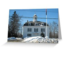 Historical Town Hall Royalston MA Greeting Card