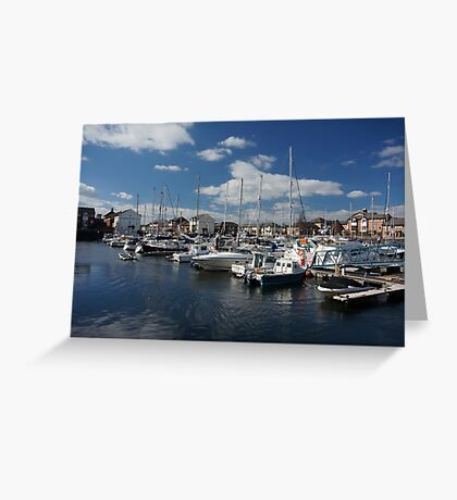 tranquil parking  Greeting Card