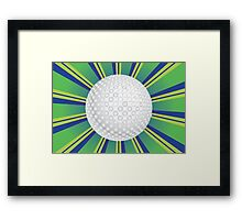 Golf Ball Background Framed Print