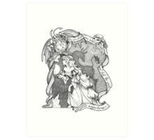 The Last Unicorn fan art Art Print