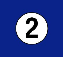 2, Second, Number Two, Number 2, Racing, Two, Competition, on Navy Blue by TOM HILL - Designer