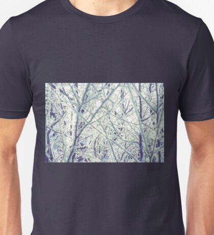 Retro Trees in Hoarfrost 2 Unisex T-Shirt