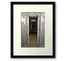 Jail -Cell Framed Print
