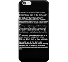 Songs of Innocence Quotes iPhone Case/Skin