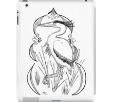 Heron with Decorative Frame iPad Case/Skin