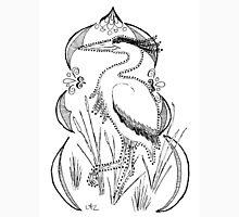 Heron with Decorative Frame Unisex T-Shirt