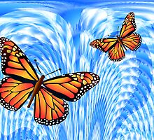 Butterflies in a Blue Sky by Orla Cahill