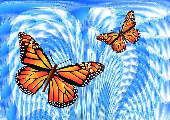 Butterflies in a Blue Sky by Orla Cahill