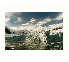 Antarctic Glacier Art Print