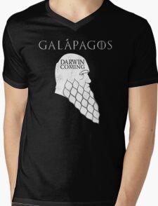 Darwin is Coming Mens V-Neck T-Shirt