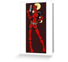 Lady Deadpool Greeting Card