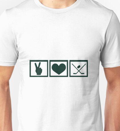 Peace * Love * Hockey Unisex T-Shirt
