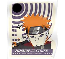 """Human Nature pursues strife"" Poster"