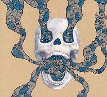 Skull Doodle by vexxart