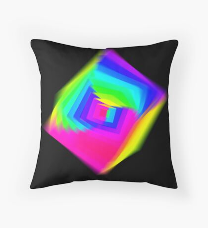 Cube Spectral Throw Pillow