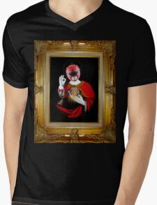 Saint Red Mens V-Neck T-Shirt