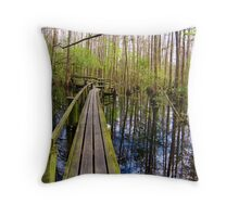 Cypress Boardwalk Throw Pillow