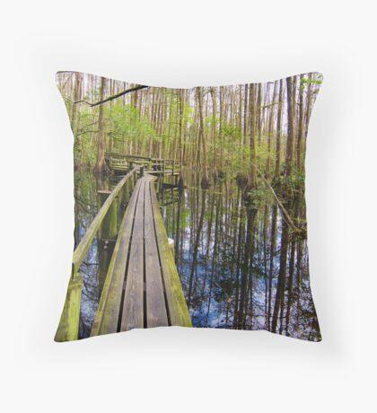 Cypress Boardwalk Throw Pillow