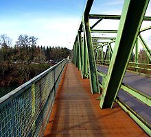 Bridge With a Sidewalk Across the Umpqua River by Chuck Gardner