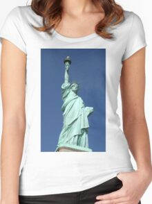 Statue of Liberty, New York Women's Fitted Scoop T-Shirt