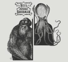 Yeti vs. Squidman by Zoe Sadokierski
