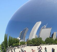 Cloud Gate Reflections by Barrie Woodward