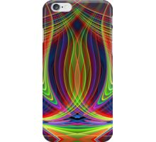 Play of lines, colourful fractal abstract pattern iPhone Case/Skin