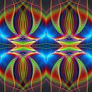 Play of lines, colourful fractal abstract pattern by walstraasart