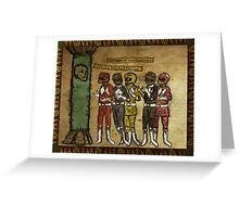 Power Rangers Medieval Force Greeting Card