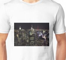 Night Time View of New York City Unisex T-Shirt