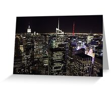 Night Time View of New York City Greeting Card