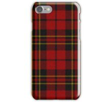 red Tartan Plaid iPhone Case/Skin
