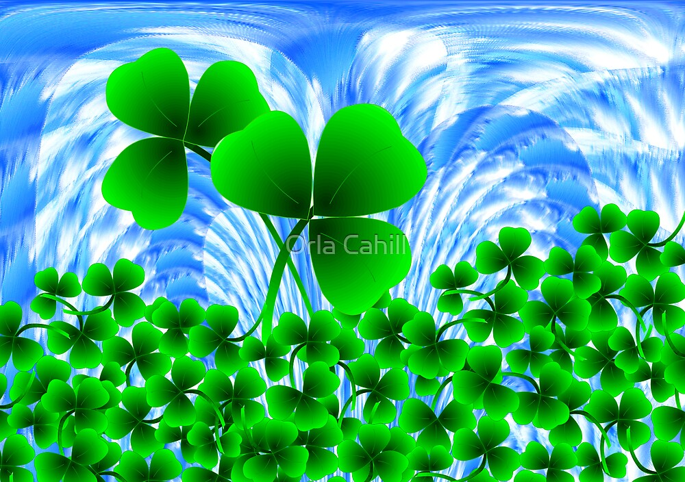 Shamrock for St.Patrick's Day by Orla Cahill