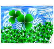 Shamrock for St.Patrick's Day Poster