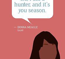 Donna Meagle Greeting Card by mmaccioli