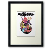 Black Widow Band Shirt Framed Print