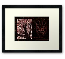climbing in sky Framed Print