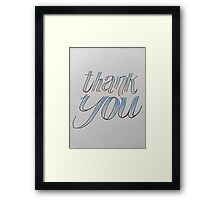 thank you. blue + green Framed Print