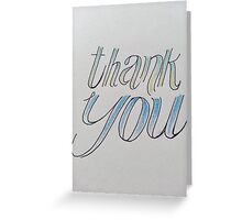 thank you. blue + green Greeting Card