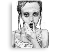 freckles girl Canvas Print