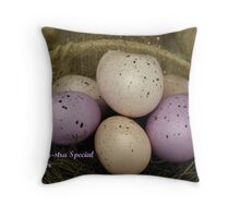 Special Easter Greetings Throw Pillow