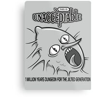 Unacceptable- Adventure Time t-shirt design Metal Print