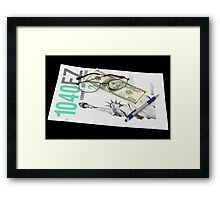 Tax Time Framed Print